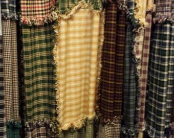 Homespun Rag Shower Curtains-Primitive