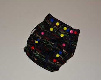 """Psalm 139 One-Size Pocket Diaper, Cloth Diaper, """"Fearfully and wonderfully made"""" Diaper, Snaps"""