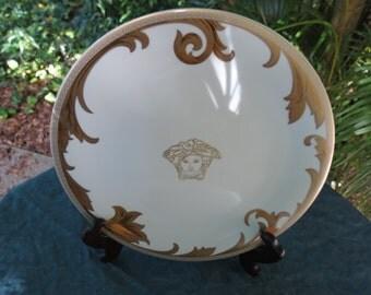 Versace Dishes - Rosenthal Arabesque Gold Medusa Dinner Plate
