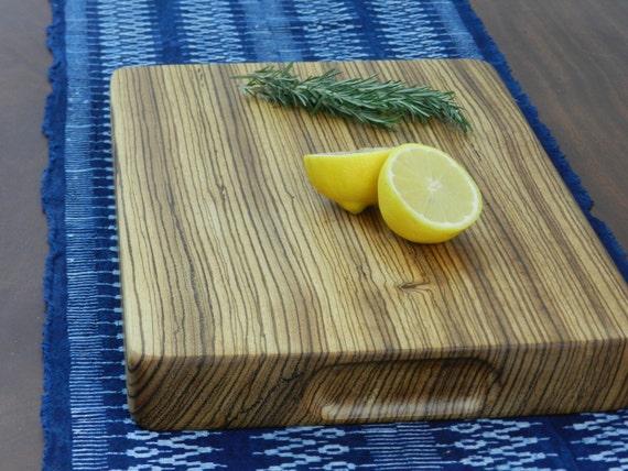Zebra Wood Cutting/Serving Board