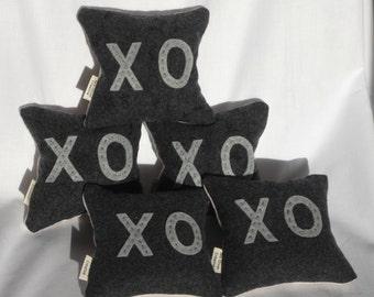 Balsam fir filled wool and linen cushion XO
