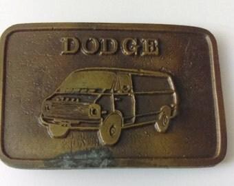 Vintage Metal Belt Buckler Dodge Buckler