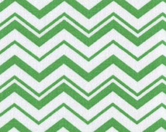 Green and White Chevron Crib Sheets