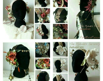 Custom designed professional fusion bellydance headdress, created especially for you