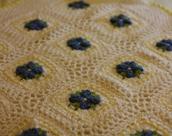 Forget-Me-Not Baby Blanket