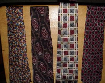 Four Mens Vintage Neckties