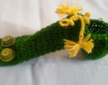 Green Snake hand knitted underwear, penis warmer cock sock vibrator cozy willie warmer accessory for man underwear outfit handmade sexy