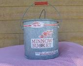 """Vintage """"Old Pal"""" minnow bucket"""