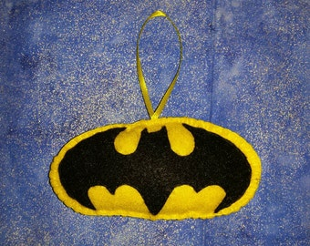Bat Signal felt ornament