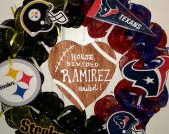 NFL House Divided Wreath