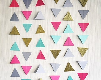 Unique geometric garland related items Etsy