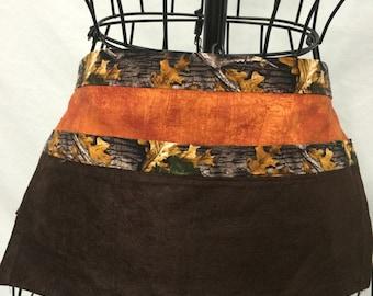 Boys half waist apron camo