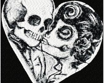 Skeleton Love Machine Embroidery Design