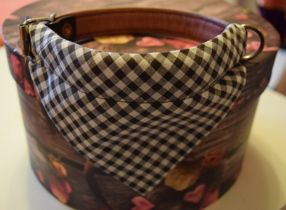 """Bandana """"Dark Brown Chequered"""" Bandanas for small or medium sized dogs cats"""