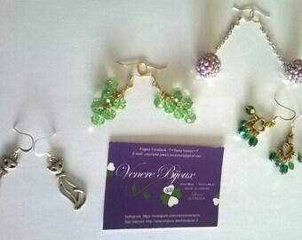 Set di orecchini con cristalli
