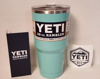 Powder Coated YETI Rambler 30oz or 20oz - Sea Foam Green