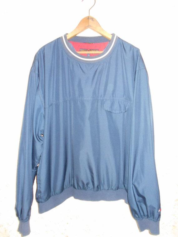 vtg 90s tommy hilfiger golf pullover windbreaker jacket coat. Black Bedroom Furniture Sets. Home Design Ideas