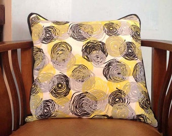 Hand screen printed cushion with insert
