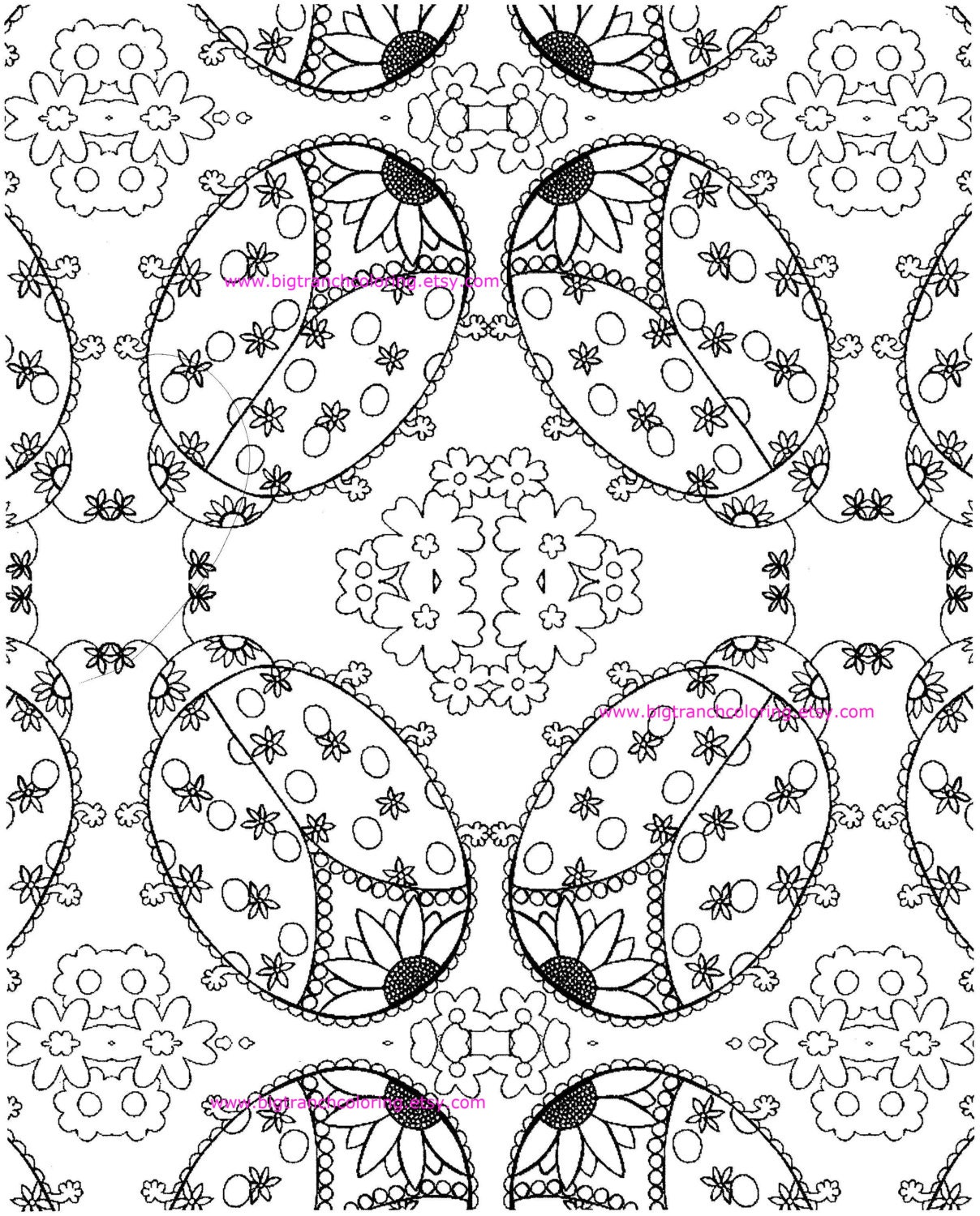 coloring page colouring ladybugs hand drawn