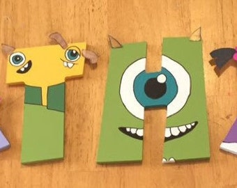 Handpainted Wooden Letters-- CUSTOM