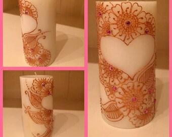 Gorgeous White Henna Candle