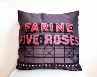 Farine Five Roses - Cushion - Throw Pillow - Montréal