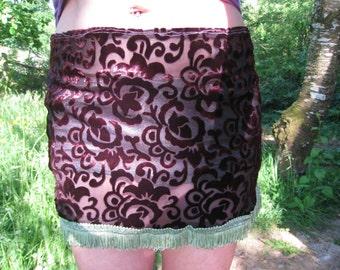Plush mini skirt
