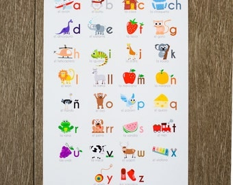 Spanish Alphabet Print