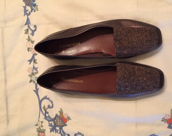 Ladies Enzo Angiolini Brown Leather & Fabric Uppers! Size 8.5M!!
