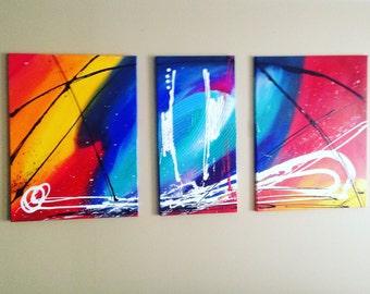 Acrylic paint canvas