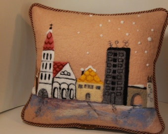 decorative felt pillow