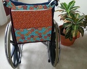 Manual Wheelchair Tote - Burnished Orange Twirls