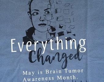 Adult Mens and Womens shirt - Brain Tumor Awareness Shirt - Brain Cancer Awareness - Go Gray for May - Craniopharyngioma