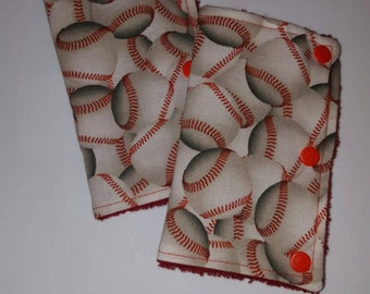 Baseball drool pads, ergo drool pads, teething pads, baby carrier strap covers, stroller strap covers, chew pads, drool pads, ergo, bjorn