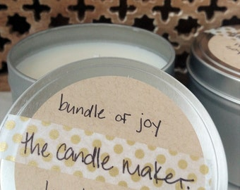 soy scented candles: bundle of joy