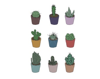 Cactus Print - A4 Digital Illustration Art Print