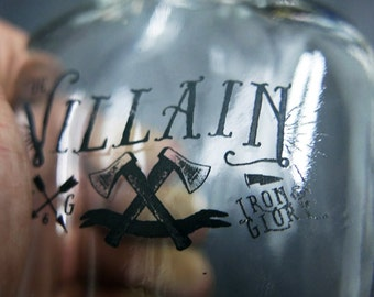 8.5 oz Glass Swing Top Flask