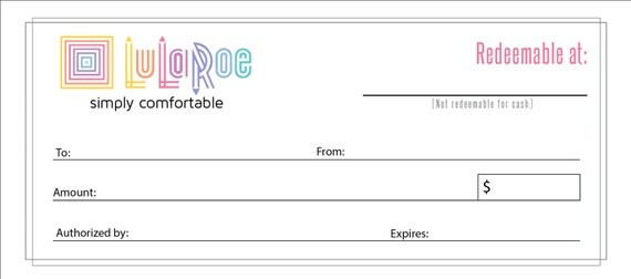 digital file lularoe gift certificate by timelessvisionstudio
