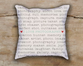 Photograper Pillow - Photo Studio Pillow - I love photography cushion - photograper cushion