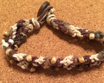 Woven Beaded Bracelet Neutral