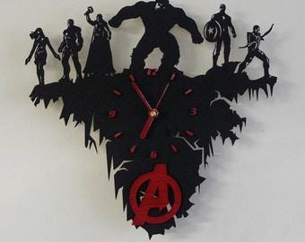 Avengers wooden wall clock