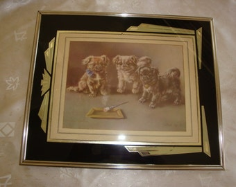 Art Deco Framed Print WHAT IS IT by Minnie Keene