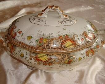 H & K Tunstall Large Lidded Soup Tureen ~ Doris