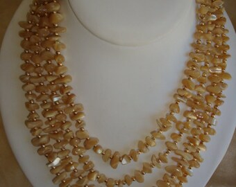 4-Strand Glass Beaded Necklace ~ WOW
