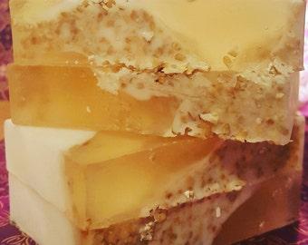 On Sale Honey-Almond & Oatmeal Handmade Soap