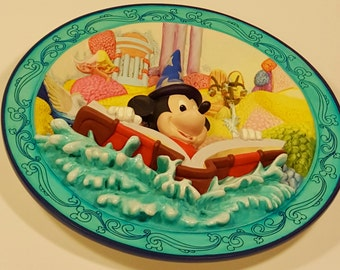 Final Markdown. The Sorcerer's Apprentice 3-D Collectible Plate. As is.