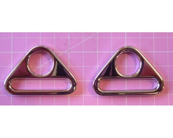 Triangle Rings 1 in Set of 2 in Nickel