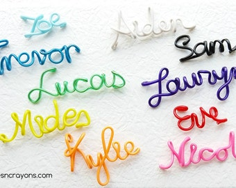 Personalized name keychain, party favors for kids, custom name keychain, backpack accessories, tween girls gifts, wire wrap, name keychain