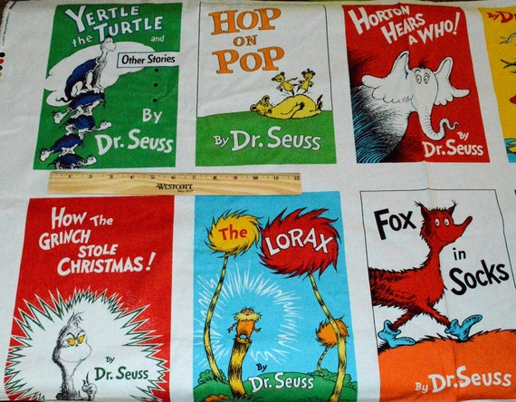 pdf dr seuss lorax books dr seuss fabric panel for quilting ten favorite book covers