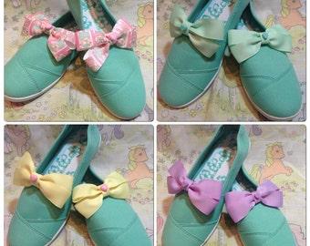 Pastel kawaii shoe clips fairy kei decora